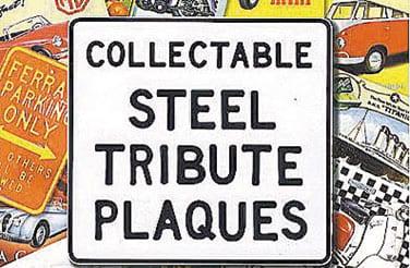 Nostalgische metalen Reclameborden